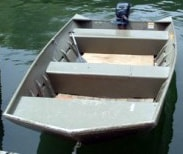 How to paint an aluminum jon boat for Painting aluminum boat interior