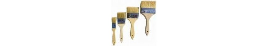 Brushes: Badger Hair, Chip and Foam Brushes