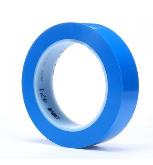 "3M 471 1"" Blue Vinyl Tape Roll"