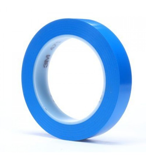 "3M 471 3/4"" Blue Vinyl Tape Roll"