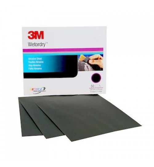3M Imperial Wetordry Sheet, 02035, 9 in x 11 in, P800A