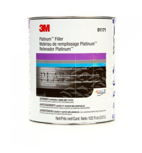 3M Platinum Body Filler, 1 Gallon