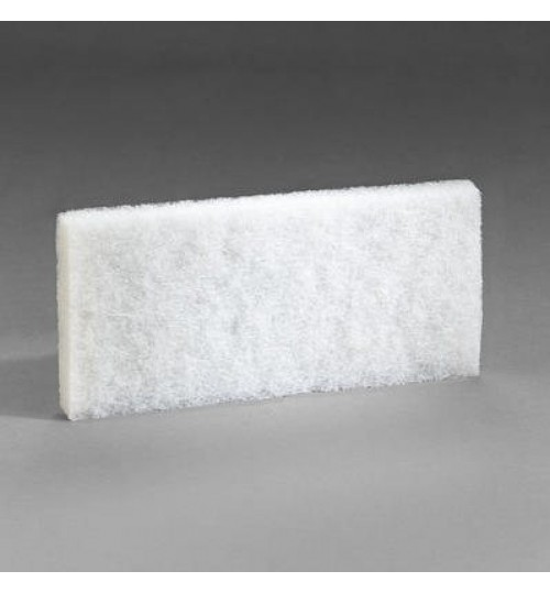 3M Doodlebug White Cleaning Pad 8440, 4.6 in x 10 in, 5/box