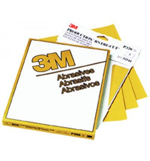 3M Gold Sheet 02541, 9 in x 11 in, P320A, 50 sheets per sleeve