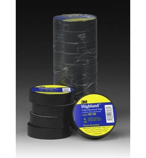 3M Highland Vinyl Electrical Tape HIGHLAND, 3/4in x 66ft