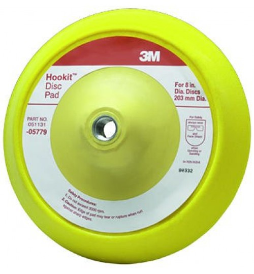 3M Hookit Disc Pad, 05779, 8 in, 1 per case