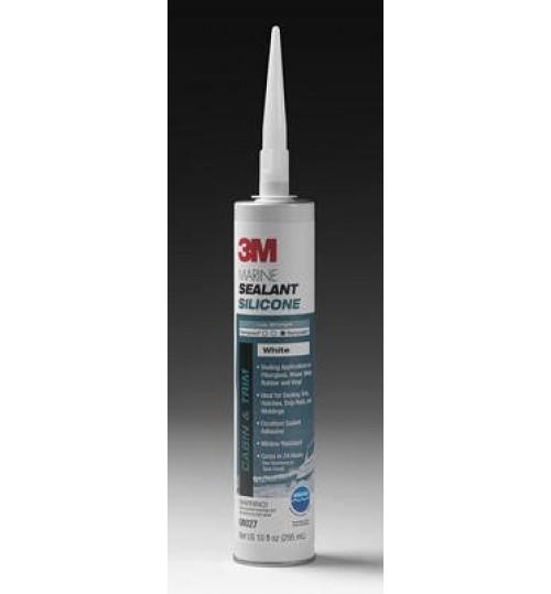 3M Marine Grade Silicone Sealant, 08027, 1/10 Gallon, White