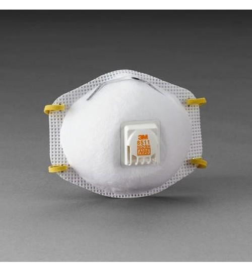 3M Particulate Respirator 8511, N95, 10 per Box