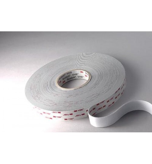 3M VHB Acrylic Foam Tape 4945 White 16955, 1 in x 36 yd