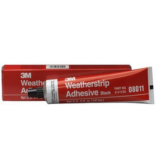 3M Weatherstrip Adhesive 08011, Black, 5 oz Tube