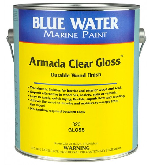 Armada Clear Wood Finish by Blue Water Marine Paints