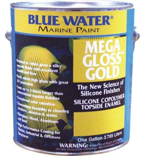 Blue Water Marine Mega Gloss Gold Silicone Copolymer Quart