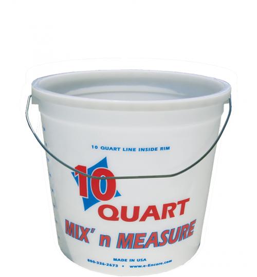 Mix n Measure Plastic Pail, 10 Quart