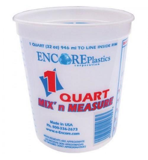 Mix n Measure Plastic Pail, 1 Quart