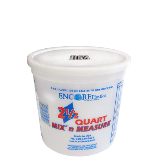 Mix n Measure Plastic Pail, 2.5 Quart