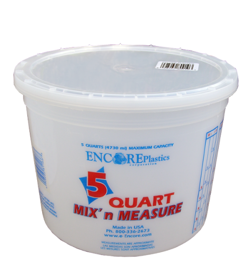 Mix n Measure Plastic Pail, 5 Quart