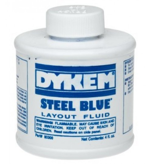 Dykem Steel Blue Layout Fluid and Sanding Aid