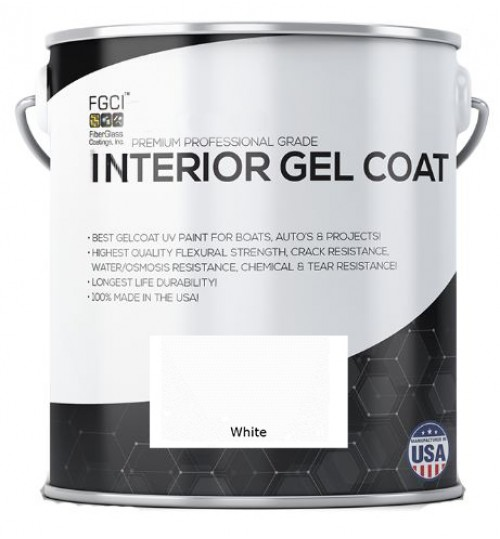 White Interior Gelcoat with Wax Premixed