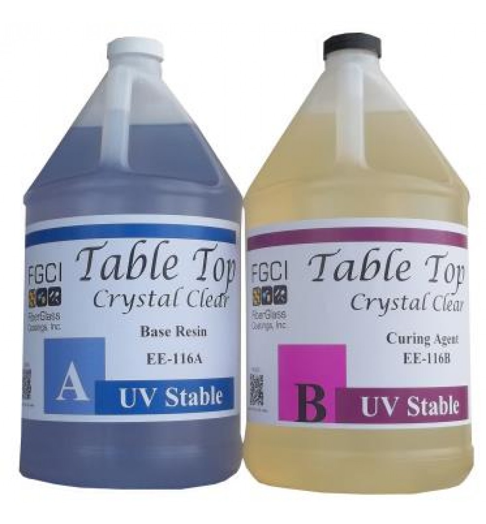 Crystal Clear Epoxy Table Top Resin 2 Gallon Kit