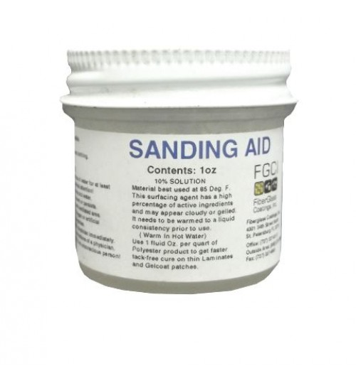 Wax Additive Sanding Aid for Gel Coats and Resins