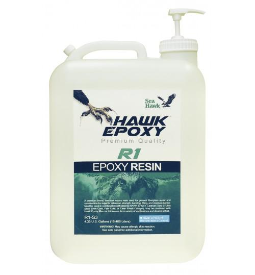 Hawk Epoxy Resin, R1-S3, 4.35 Gallon