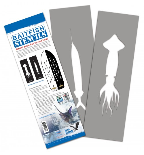 Bait Fish Stencils by Sea Hawk Paints