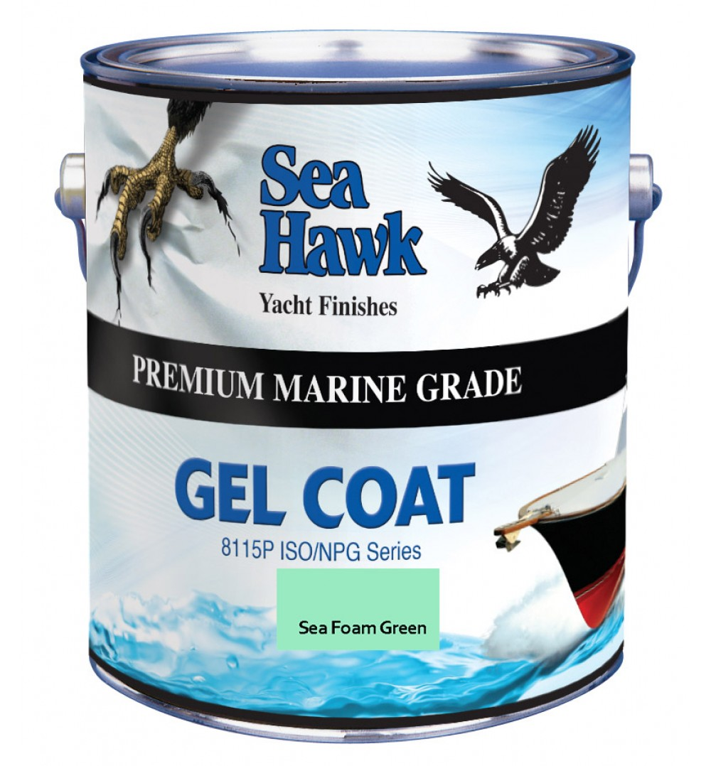 Sea Foam Green Gel Coat, Sea Hawk Paints