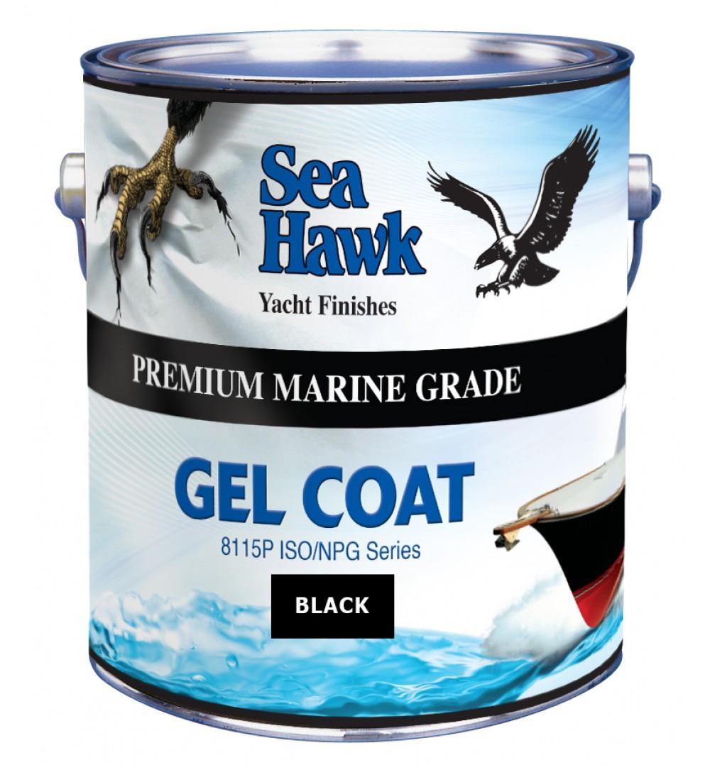 Black Gelcoat Sea Hawk Paints