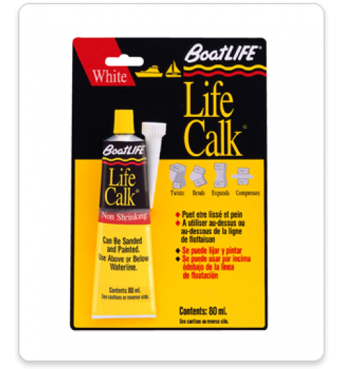 BoatLife LifeCalk Sealant Tube, 2.8 oz, Black, 1031