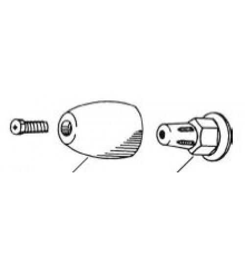 EE Propeller Nut Zinc