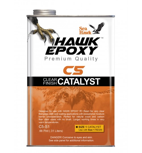 Hawk Epoxy Clear Finish Catalyst, C5-S1, .66 Pint