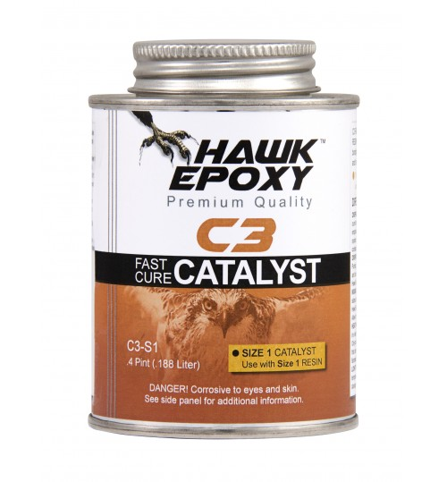 Hawk Epoxy Fast Cure Catalyst, C3-S1, .4 Pint