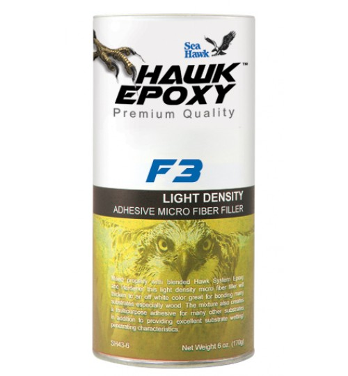 Hawk Epoxy Light Density MicroFiber Filler, F3, 6oz