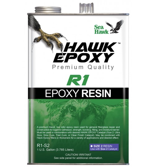 Hawk Epoxy Resin, R1-S2, Gallon