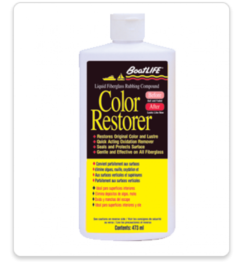 Liquid Fiberglass Rubbing Compound & Color Restorer, Pint