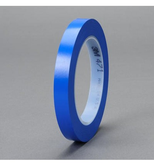Scotch Plastic Tape 471 Blue 06408, 1/2 in x 36 yd