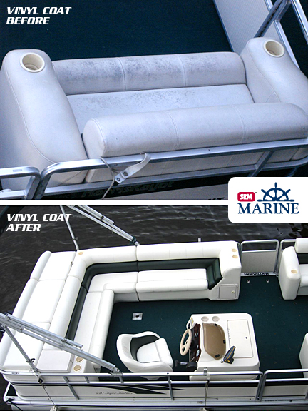 marine vinyl coat before and after