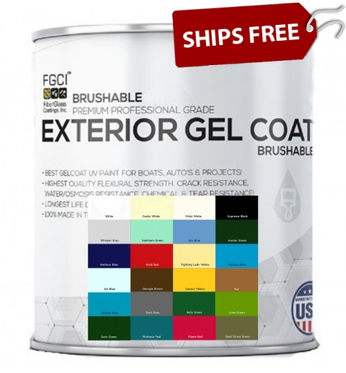 Ultra Plus Brushable Gelcoat, Quart