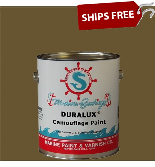 Duralux Camouflage Paint, Dead Grass Green, Gallon