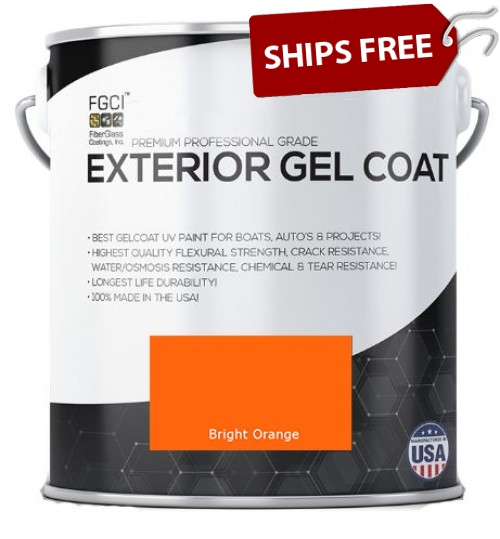 Bright Orange Professional Grade Exterior Gel Coat