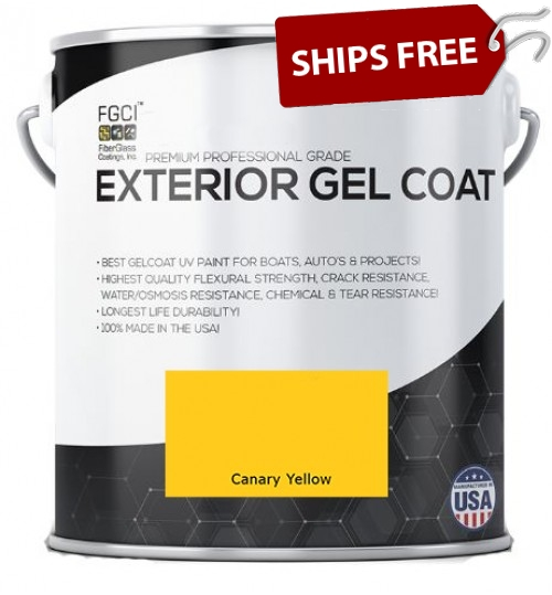Canary Yellow Professional Grade Exterior Gel Coat