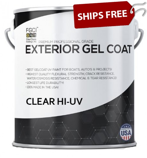 Clear HI-UV Exterior Gelcoat