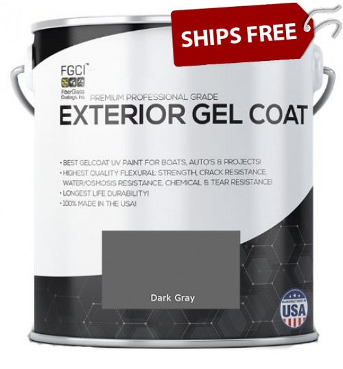 Dark Gray Professional Grade Exterior Gel Coat
