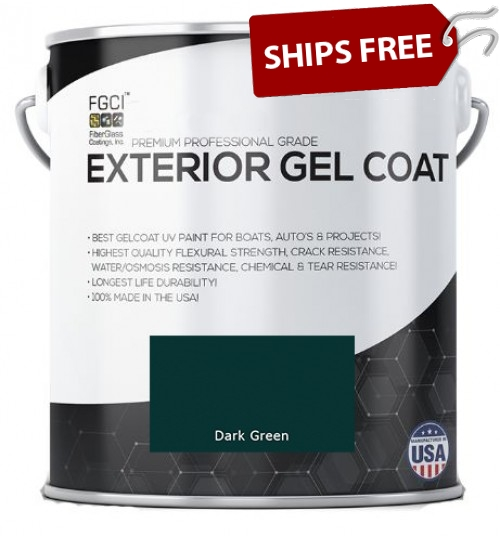 Dark Green Professional Grade Exterior Gel Coat