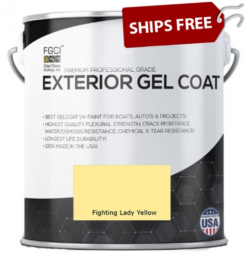 Fighting Lady Yellow Professional Grade Exterior Gel Coat