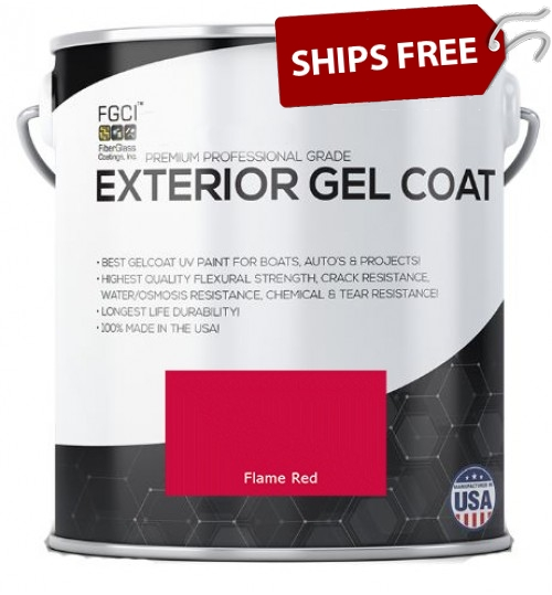 Flame Red Professional Grade Exterior Gel Coat