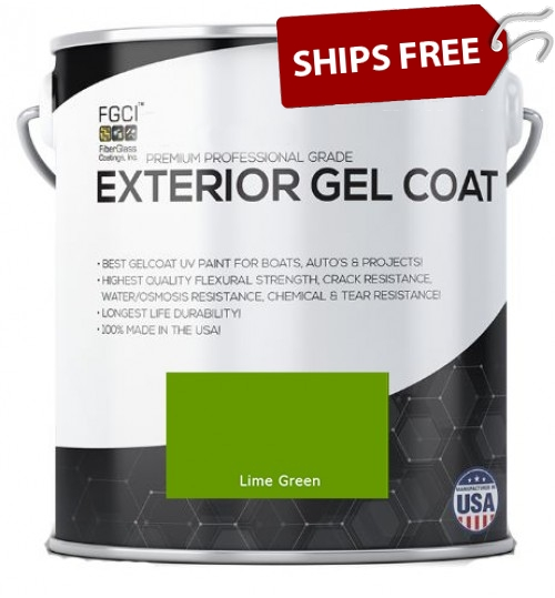 Lime Green Professional Grade Exterior Gel Coat