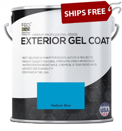 Medium Blue Professional Grade Exterior Gel Coat