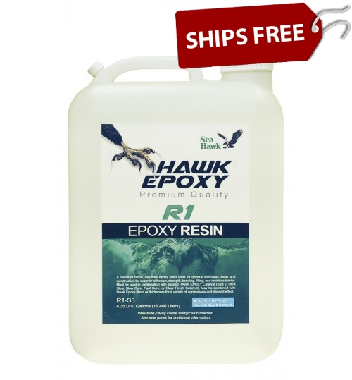 Hawk Epoxy Resin, R1-S3, 4.35 Gallon