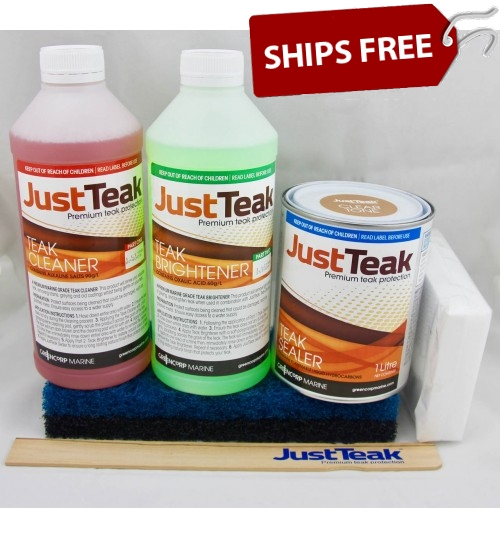 JustTeak™ Teak Sealer Small Restoration Kit